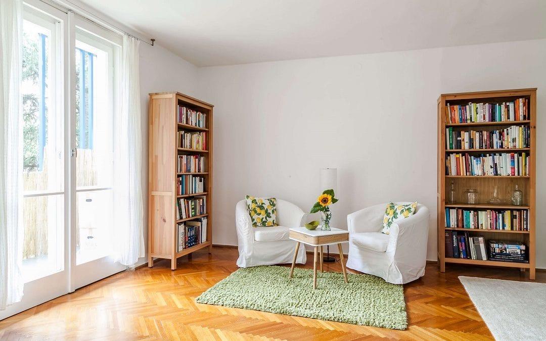 rózsadombi lakás nappali részlet