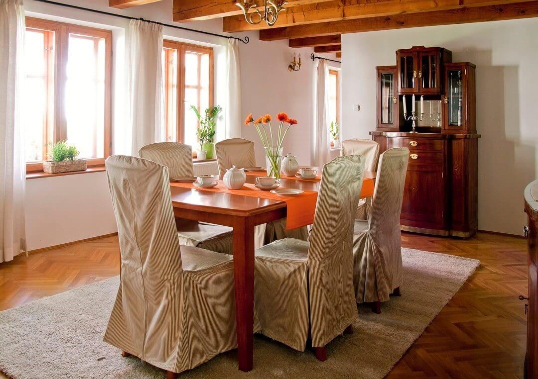 pátyi családi ház ebédlő
