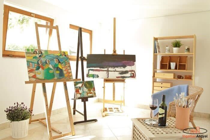 családi ház festőszoba