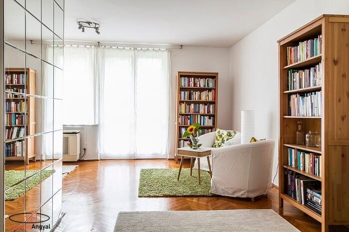 rózsadombi lakás nappali