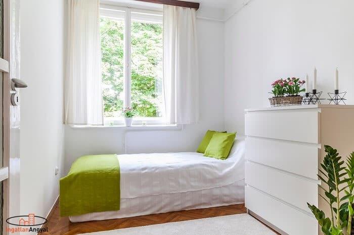 rózsadombi lakás hálószoba