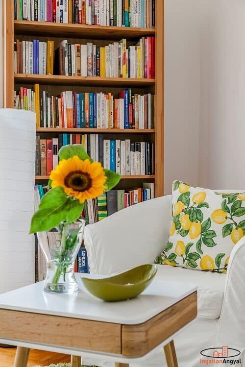 rózsadombi lakás nappali hangulat fotó
