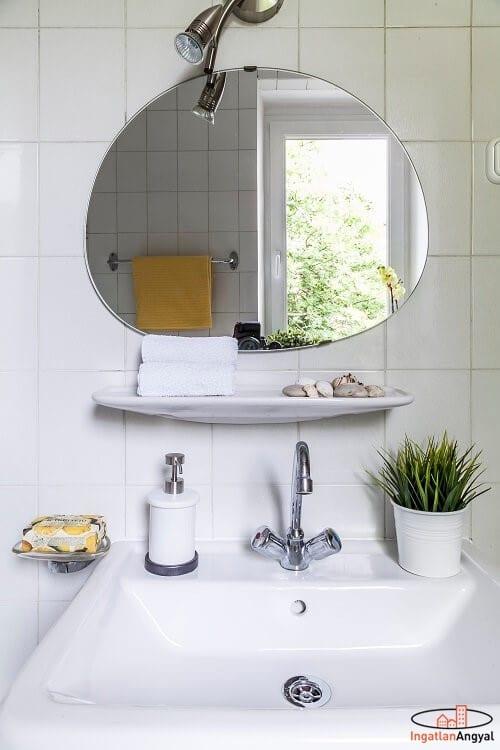 rózsadombi lakás fürdőszoba hangulat fotó