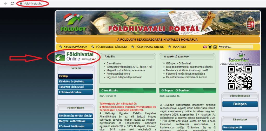 Földhivatal Online tulajdoni lap lekérése