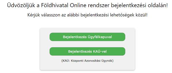 Földhivatal Online bejelentkezés